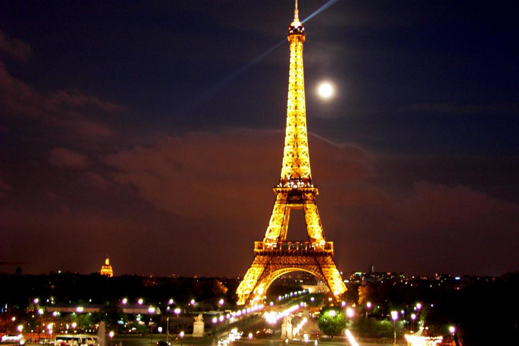 Eiffel Tower Paris France Construction Started